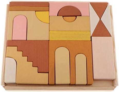 freneci Houten Puzzel Kinderen, Kasteel Houten Kinderen, Houten Puzzel Geometrische Vormen, Educatief Speelgoed Hout