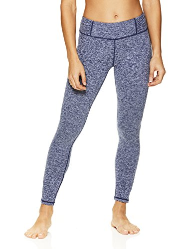 HEAD Women's Cold Day Shirred Leggings  - Performance Activewear Yoga & Running Pants - Medieval Blue Heather, X-Small ()