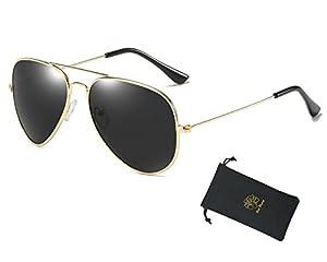 Red Peony Aviator Sunglasses Premium Classic Colored Lens Polarized Sunglasses- UV 400 Protection Sunglasses AORON Design