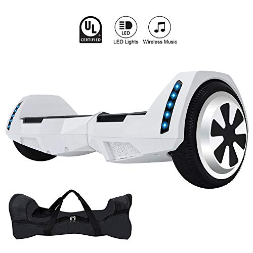 CXM2018 Bluetooth Enabled 6.5 inch Self Balancing Hoverboard with Built-in Wireless Speaker 250Watt...