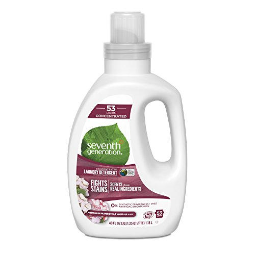- Seventh Generation Concentrated Laundry Detergent, Geranium Blossom & Vanilla, 40 oz (53 Loads)