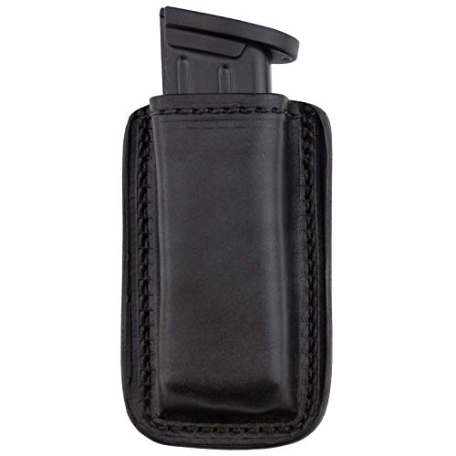 Relentless Tactical Leather Magazine Holder | Made in USA | Sizes to fit virtually Any 9mm.40.45 or .380 Pistol Mag | Single or Double Stack | IWB or OWB Double Stack Black (The Best 45 Pistol To Carry)