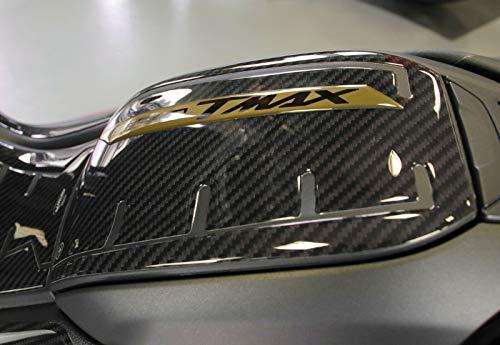 Stickers van kunsthars, 3D-tankbescherming, compatibel met Yamaha Tmax 560 (carbon goud)
