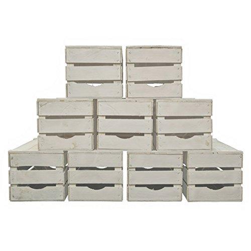 Awesome Set 9 Cassette Legno Frutta Nuove Resistenti Colore Bianco Per Scaffali E  Librerie 50x30x28: Amazon.it: Casa E Cucina
