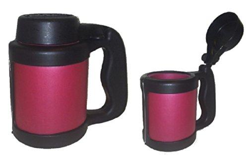 Can Stein Beverage Insulator 12 oz.Can Cooler w/Flip-Top Lid-Burgundy