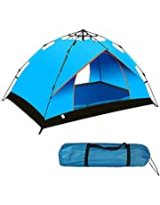 Camping Tent Beach Tent Dome Tent 2 Door Breathable Waterproof UV Protection for Family Outdoor Sports Travel Picnic 2-3 Person (200 * 135 * 145 cm)
