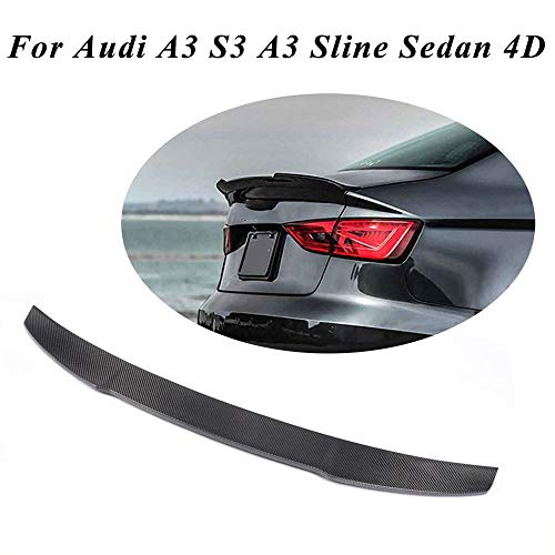 (JC SPORTLINE A3 S3 CF Trunk Lip, fits Audi A3 S3 A3 Sline Sedan 2014-2019 Carbon Fiber Rear Deck Lid Trunk Boot Spoiler )