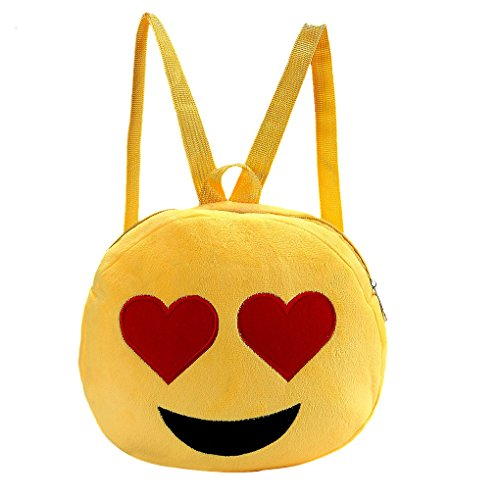 Liying Neu Kinderrucksack Kindertasche Babyrucksack Kindergartenrucksack Tasche Schultasche Shoulder Bag Emoji Smile Schöne Cartoon Backpack für Outdoor Kindergarten