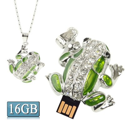 CAOMING Frog Shaped Diamond Necklace Style USB Flash Disk (8GB) (Color : Color4) by CAOMING