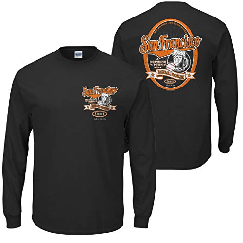 San Francisco Baseball Fans. San Francisco: A Drinking Town with a Baseball Problem. Black T Shirt (Sm-5x) (Long Sleeve, X-Large)