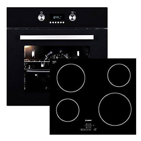 Bosch vitrocerámica Interfaz + Instalación De Horno Negro ...