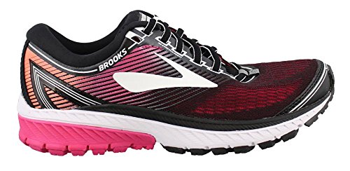 Brooks Women's Ghost 10 Running Shoe Black / Hot Pink