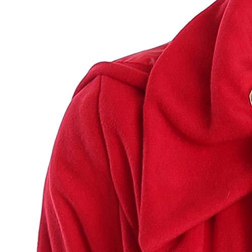 Invierno Talla Termica Largos Outerwear Grande Rot Moda Chaquetas Prendas Larga Ocasional Chaqueta Abrigos Otoño Manga Encapuchado Retro Mujer Elegantes Exteriores x1Yq7xA
