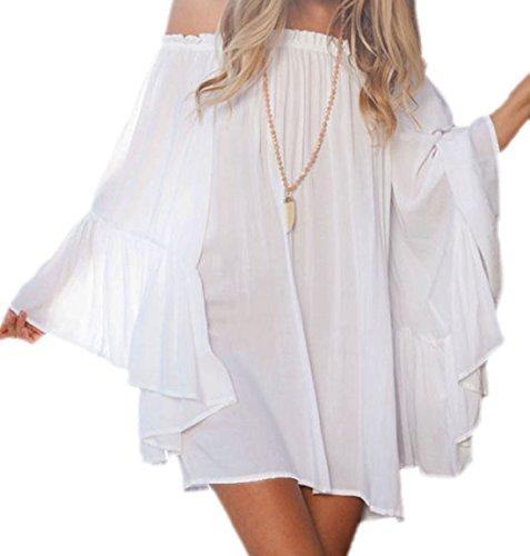 Zauberkirschen - Camisas - Semitransparente - para mujer Weiß