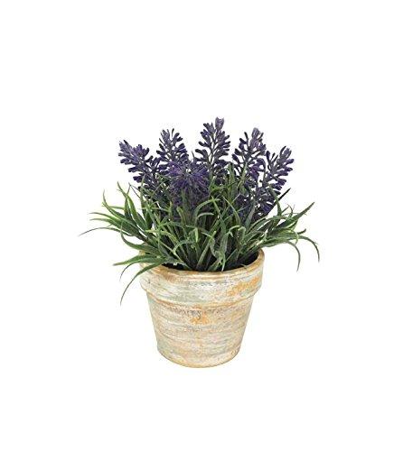 Artificial PVC Flowers Lavender Bouquet in Paper Pulp Pot Artificial Plant for Home Decor ()