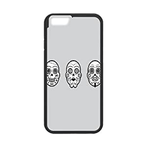 IPhone 6 Plus Cases Day of the Dead, Unique Design by Rock Funny Cases Vety, {Black}
