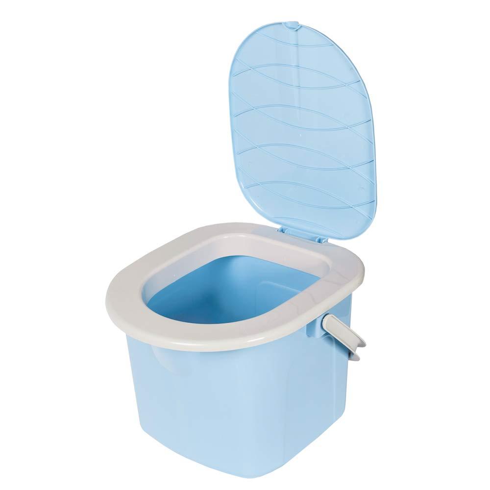 Color Azul Claro 31,0 x 31,0 x 28,0 cm BRANQ Largo x Alto x Ancho Inodoro de Camping para j/óvenes