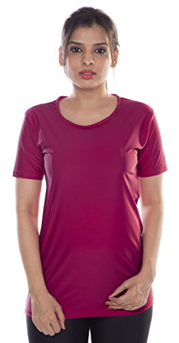 Carrel Nylon Lycra Fabric Women Swimwear TShirt AGSPL3545IY