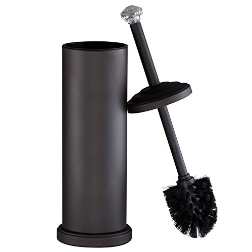 AMG and Enchante Accessories, Diamond Toilet Brush and Holder, TB112A ORB, Oil Rubbed Bronze by AMG