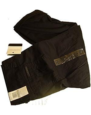 Calvin Klein Womens Cropped Pants w/ Adjustable Length Black 8