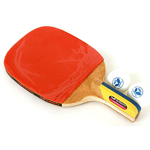 Butterfly ADDOY P40 Table Tennis Racket Penholder Paddle Ping Pong Racket & Ball by Butterfly
