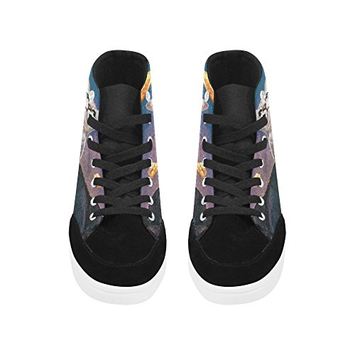 D-Story Custom Cat In Galaxy Space High Top Shoes For Men Canvas Shoes Fashion Sneaker uhJibRO1