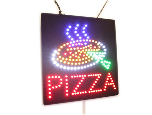 Pizza Sign, Super Bright High Quality Open Sign, Store Sign, Business Sign, Windows Sign, LED ()