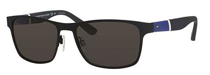 e602dcaab3 Image Unavailable. Image not available for. Color  Tommy Hilfiger 1283S FO3  Black Blue ...