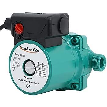 KOLERFLO 3/4 Inch 110V Circulating Water Pump Hot Water Circulation Pump/Circulator Pump for Hot Water System(RS15-6 Green)