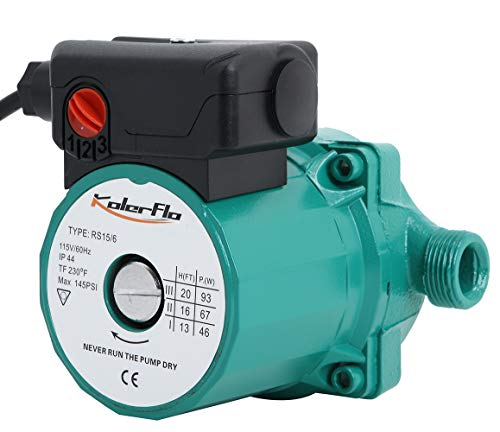 Hot Water Circulation Pump - KOLERFLO 110V Circulating Water Pump Hot Water Circulation Pump/Circulator Pump for Hot Water System(RS15-6 Green)
