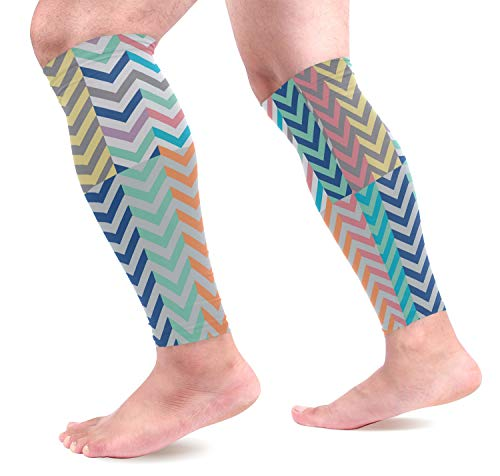 - KEAKIA Quiver Full of Arrows Matching Chevrons Calf Compression Sleeve Shin Splint Support Calf Pain Relief for Running, Cycling, Travel, Sports for Men Women (1 Pair)