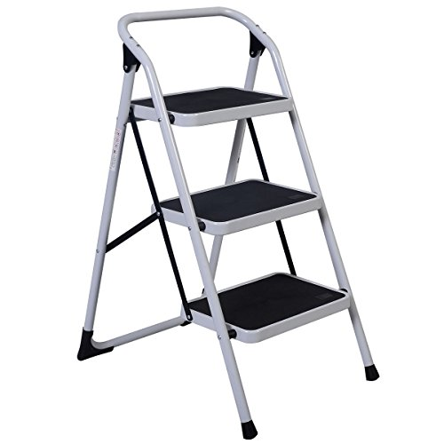 onestops8 Protable 3 Step Ladder Folding Non Slip Safety Tread Heavy Duty Industrial Home by onestops8 (Image #2)