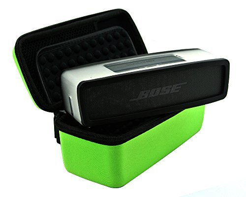 BOSE MINI SPEAKER COVER,Hard Case Travel Carry Bag for Bose Soundlink Mini Bluetooth Portable Wireless Speaker 1 I / 2 II and Wall Charger and Charging Cradle / Fits Bose Silicone Soft Cover-green