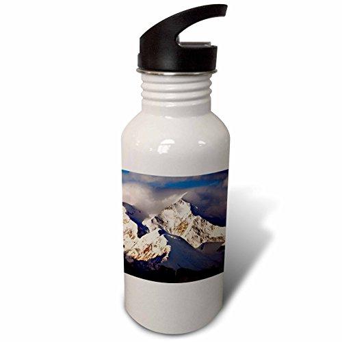 3dRose Danita Delimont - Mountain - USA, Alaska, Mountain Range - Flip Straw 21oz Water Bottle - Clouds Range Park Denali National