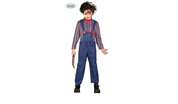 Disfraz de muñeco asesino infantil - 10-12 años: Amazon.es ...