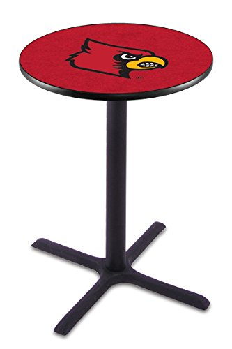 Licensed Louisville Cardinals Bar Stool - Holland Bar Stool L211B University Of Louisville Officially Licensed Pub Table, 28
