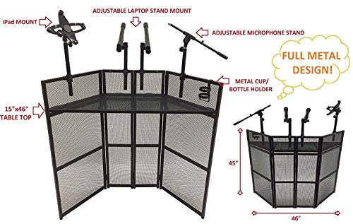 CedarsLink DJ Event Facade Black Metal Frame Booth With 15