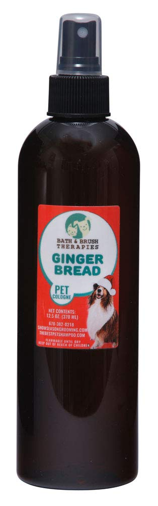 Bath & Brush Therapies Gingerbread Pet Cologne 12.5 oz for Dogs
