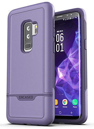 Galaxy S9 Plus Tough Case, Encased [Rebel Series] Rugged Case for Samsung Galaxy S9+ (2018 Release) Military Spec Armor Protection (Deep Purple)