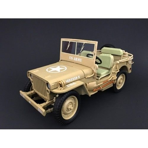 Jeep US Army WWII Vehicle Desert Color 1/18 by American Diorama 77408