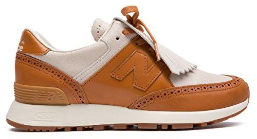 疎外するペース専門知識(ニューバランス) New Balance 靴?シューズ レディースライフスタイル Grenson x New Balance 576 Off White with Camel オフ ホワイト US 7.5 (24.5cm)