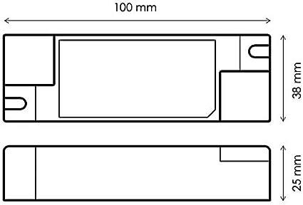 HuaTec Eaglerise Transformateur LED 500mA 12W Courant Constant pour Lampe de LED Bloc dAlimentation Driver LED