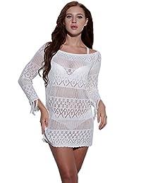 Wander Agio Womens Sunflower Printing Dress Beach Sleeveless Cover-up Slip Skirt