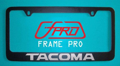 Toyota Tacoma Black License Plate Frame V2 (Zinc Metal)