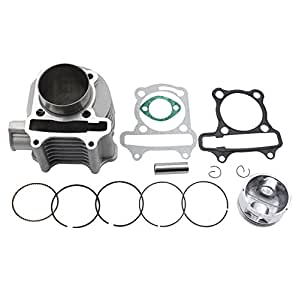 amazon goofit 57 4mm cylinder piston kit for 4 stroke gy6 150cc Dinli 125Cc 48 99