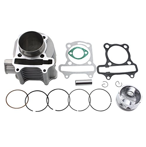 GOOFIT 57.4mm Cylinder Piston Kit for 4 Stroke GY6 150cc ATV Scooter