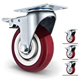 4 inch Plate Caster Wheels with Dual Lockable Set