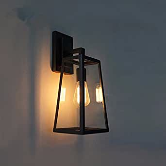 QIMLIGHT Plug in Wall Sconce Modern Wall Lamp Industrial