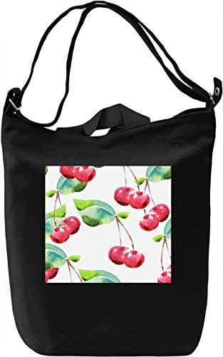 Cherry Full Print Texture Borsa Giornaliera Canvas Canvas Day Bag| 100% Premium Cotton Canvas| DTG Printing|