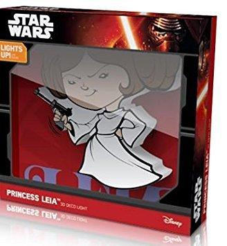 Price comparison product image Star Wars Deco Mini 3D Cordless LED Wall Night Light Princess Leia